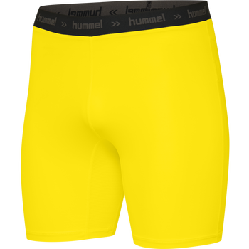 HUMMEL FIRST PERFORMANCE KIDS TIGHT SHORTS, BLAZING YELLOW, packshot