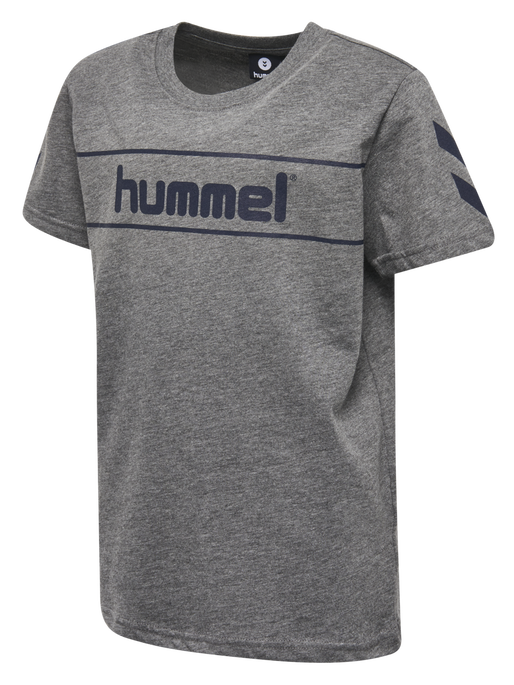 HMLJAKI T-SHIRT S/S, MEDIUM MELANGE, packshot