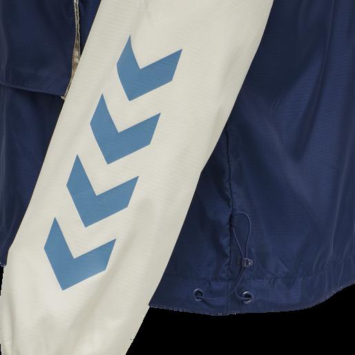 hmlAKELLO LOOSE HALF ZIP JACKET, BLUE SAPPHIRE, packshot