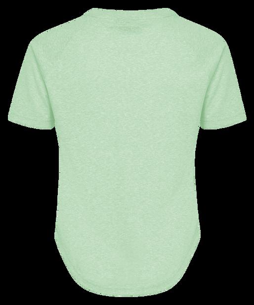 hmlPEYTON T-SHIRT S/S, ICE GREEN, packshot