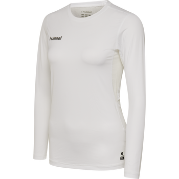 HUMMEL FIRST PERFORMANCE WOMEN JERSEY L/S, WHITE, packshot