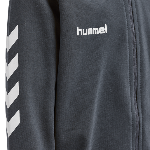 HUMMEL GO KIDS COTTON ZIP HOODIE, INDIA INK, packshot