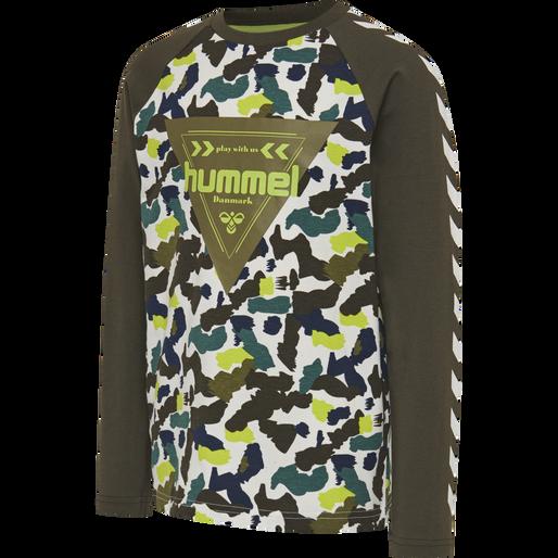 hmlHOKKAIDO T-SHIRT L/S, LIME PUNCH, packshot