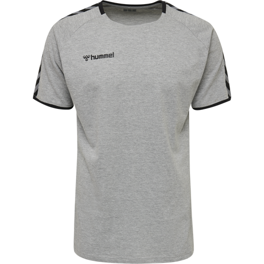 hmlAUTHENTIC TRAINING TEE, GREY MELANGE, packshot