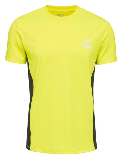 hmlEINO T-SHIRT S/S, SAFETY YELLOW, packshot