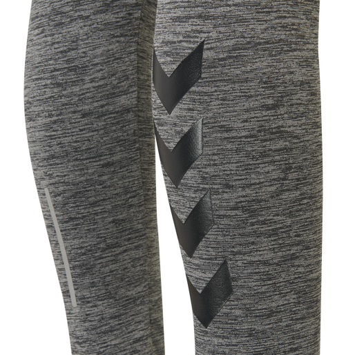 hmlSELBY TAPERED PANTS, DARK GREY MELANGE, packshot