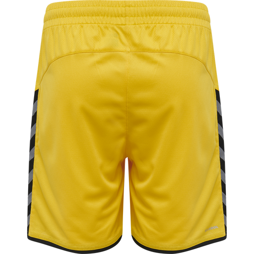 hmlAUTHENTIC KIDS POLY SHORTS, SPORTS YELLOW/BLACK, packshot