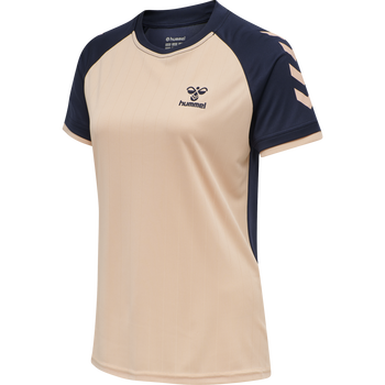 hmlACTION JERSEY S/S WOMAN, DUSTY PINK/MARINE, packshot