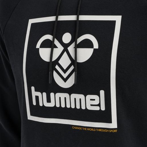 hmlISAM HOODIE, BLACK, packshot