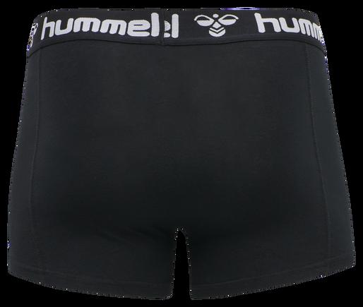 HMLMARS 2PACK BOXERS, BLACK/DARK GREY MELANGE, packshot