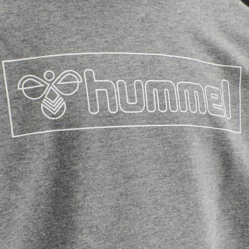 hmlBOXLINE HOODIE, MEDIUM MELANGE, packshot