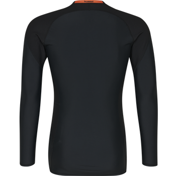 HUMMEL FIRST COMPRESSION LS, BLACK, packshot