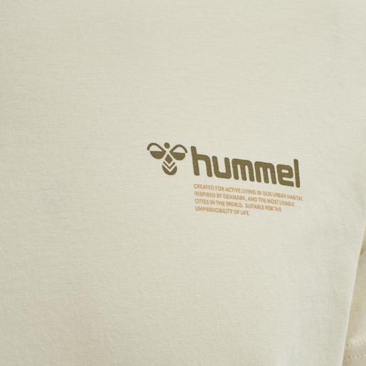 hmlKIRBY T-SHIRT, BONE WHITE, packshot