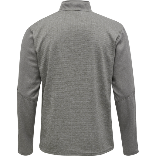 hmlAUTHENTIC HALF ZIP SWEATSHIRT, GREY MELANGE, packshot