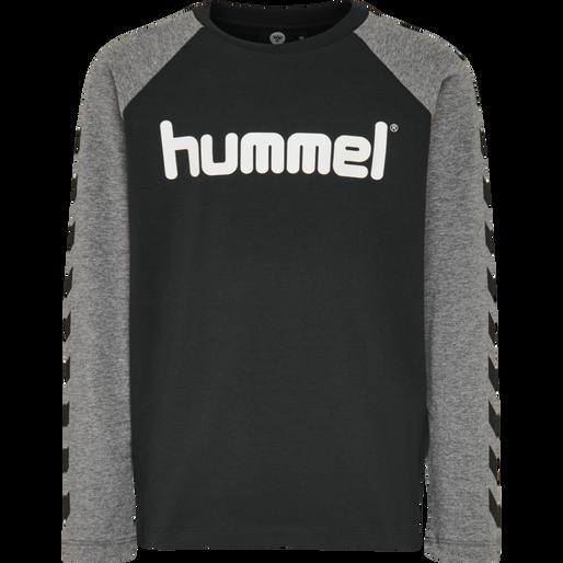 hmlBOYS T-SHIRT L/S, BLACK, packshot