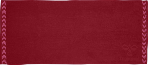 HUMMEL LARGE TOWEL, BIKING RED/RASPBERRY SORBET, packshot