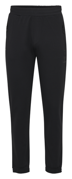 hmlLAURI REGULAR PANTS, BLACK, packshot