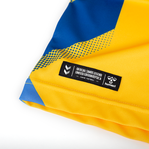 BRØNDBY SHARE LEGENDS JERSEY 2020, SPORTS YELLOW/TRUE BLUE W NO, packshot