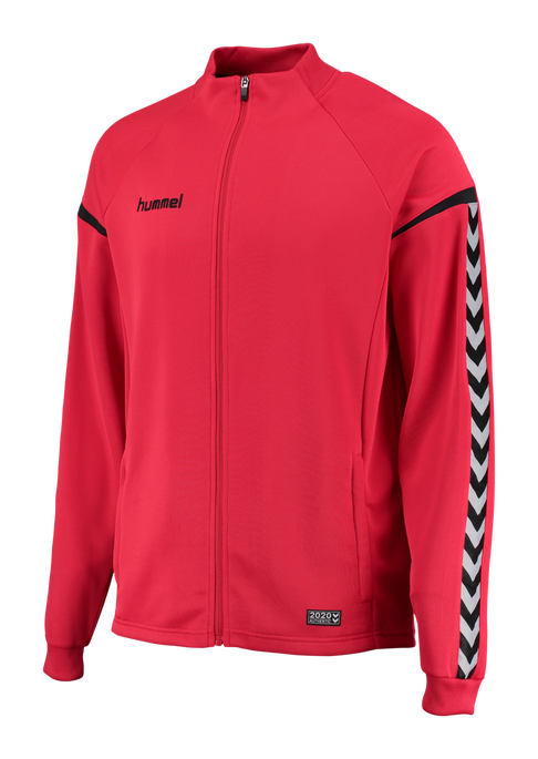 AUTH. CHARGE POLY ZIP JACKET, TRUE RED, packshot