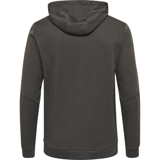 hmlAUTHENTIC POLY ZIP HOODIE, ASPHALT, packshot