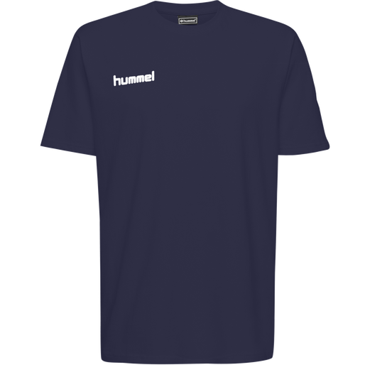HUMMEL GO KIDS COTTON T-SHIRT S/S, MARINE, packshot