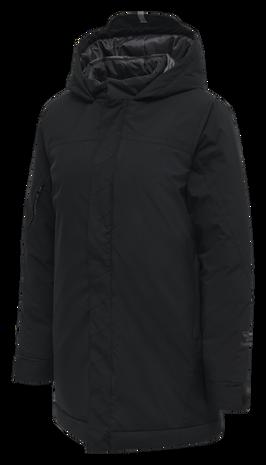 hmlNORTH PARKA JACKET WOMAN, BLACK/ASPHALT, packshot