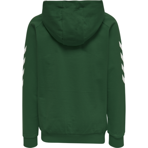 HUMMEL GO KIDS COTTON HOODIE, EVERGREEN, packshot