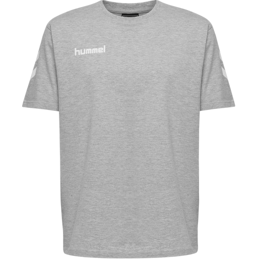 HUMMEL GO COTTON T-SHIRT S/S, GREY MELANGE, packshot