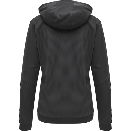 hmlAUTHENTIC POLY HOODIE WOMAN, ASPHALT, packshot