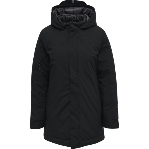 hmlNORTH PARKA JACKET WOMAN, BLACK/ASPHALT, packshot