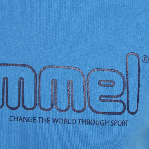 hmlMARCEL T-SHIRT S/S, BLUE ASTER, packshot