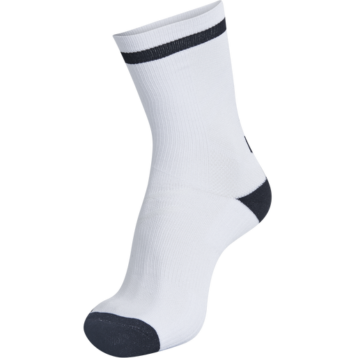 ELITE INDOOR SOCK LOW, WHITE/BLACK, packshot