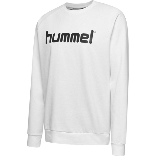 HUMMEL GO COTTON LOGO SWEATSHIRT, WHITE, packshot