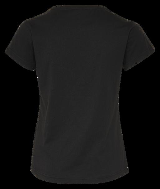 hmlROSE T-SHIRT S/S, BLACK, packshot