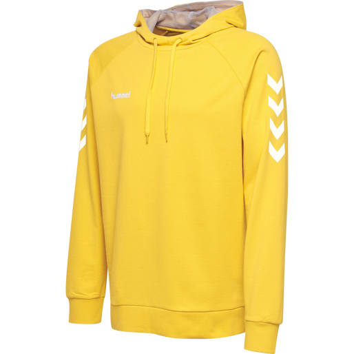 HUMMEL GO KIDS COTTON HOODIE, SPORTS YELLOW, packshot
