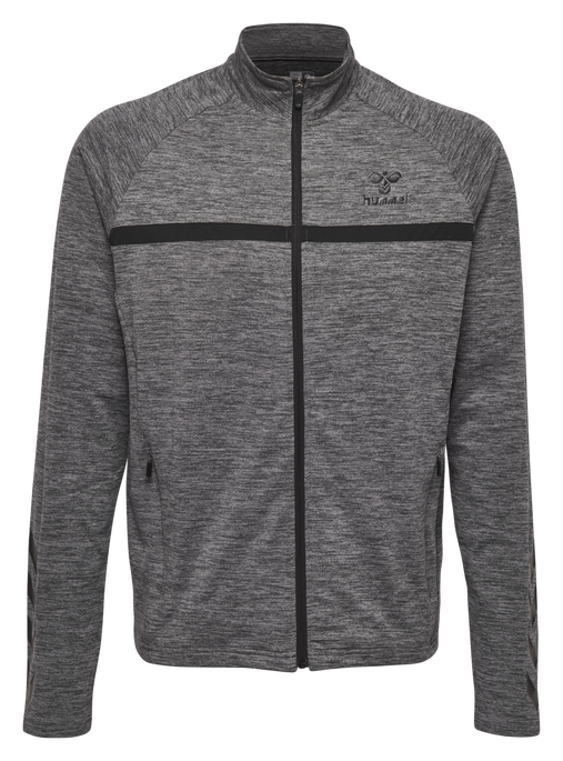HMLJAMES ZIP JACKET, DARK GREY MELANGE, packshot