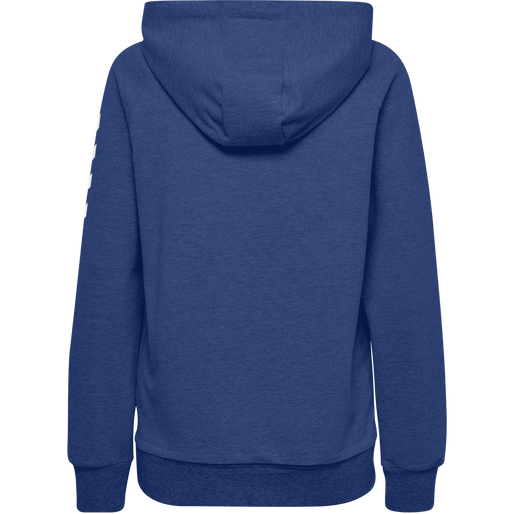 HUMMEL GO COTTON HOODIE WOMAN, TRUE BLUE, packshot