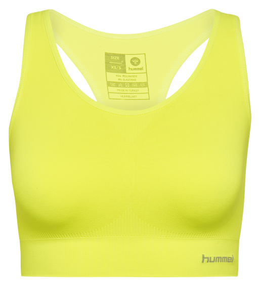 SUE SEAMLESS SPORTS TOP, SAFETY YELLOW, packshot