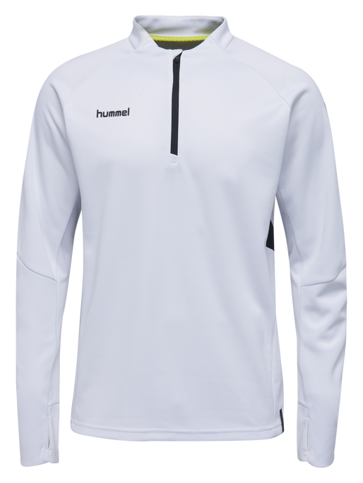 TECH MOVE KIDS HALF ZIP SWEATSHIRT, WHITE, packshot