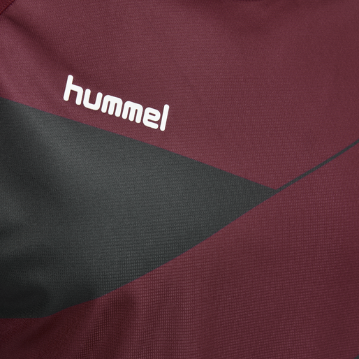 HUMMEL COURT JERSEY S/S, RUMBA RED/VULCAN, packshot