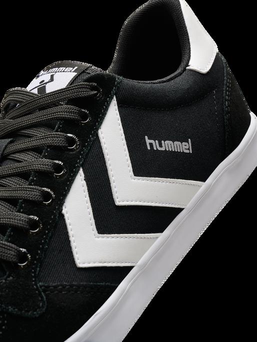 HUMMEL SLIMMER STADIL LOW, BLACK/WHITE KH, packshot