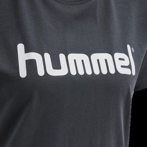 HUMMEL GO COTTON LOGO T-SHIRT WOMAN S/S, INDIA INK, packshot