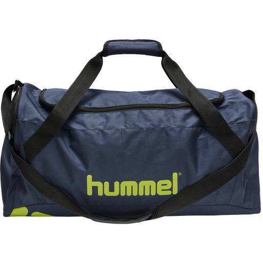 CORE SPORTS BAG, DARK DENIM/LIME PUNCH, packshot