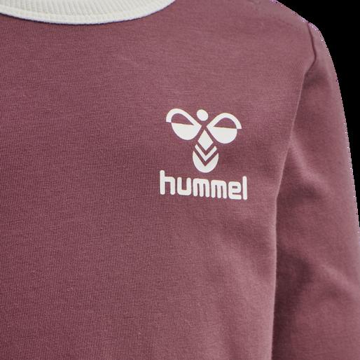 hmlMAUILINO T-SHIRT L/S, ROAN ROUGE, packshot