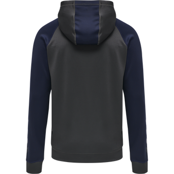 hmlACTION ZIP HOODIE SWEAT, ASPHALT/MARINE, packshot