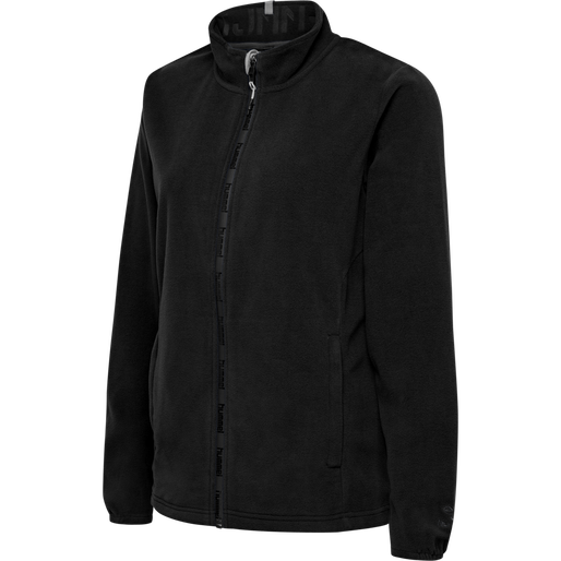 hmlNORTH FULL ZIP FLEECE JACKET WOMAN, BLACK/ASPHALT, packshot