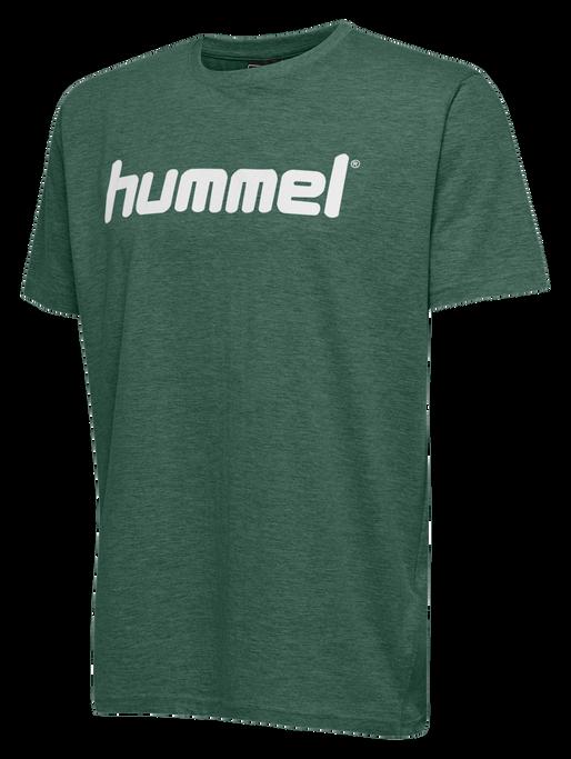HUMMEL GO KIDS COTTON LOGO T-SHIRT S/S, EVERGREEN, packshot