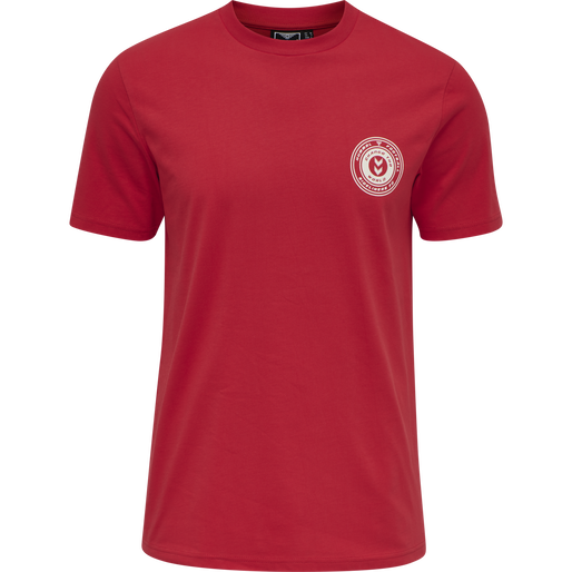hmlMICHAEL T-SHIRT, TRUE RED, packshot
