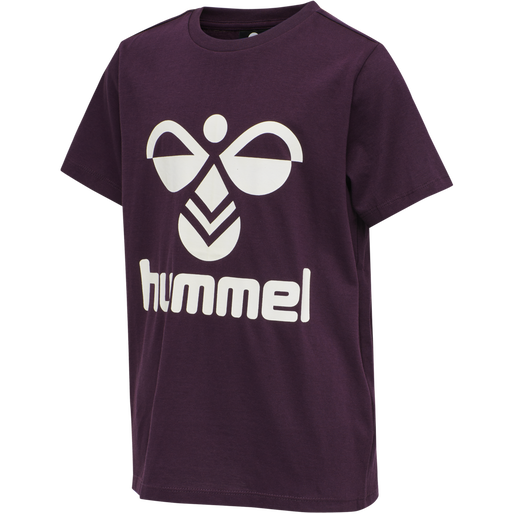 hmlTRES TEE SHIRT S/S, BLACKBERRY WINE, packshot