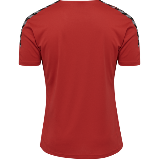 hmlAUTHENTIC POLY JERSEY S/S, TRUE RED, packshot